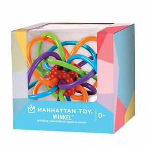 New Manhattan Toys Winkel Classic Baby Rattle Teether Teething Toy Gift Boxed