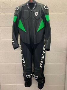 Revit Akira One Piece Leather Motorcycle Suit Race Black Green Mint EU 56 UK 46