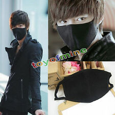 Unisex Men Women Lady Cycling Anti-Dust Cotton Mouth Face Mask Respirator Black