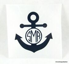 "Diy 3"" Iron On Vinyl Anchor Monogram You Pick Color Reg or Glitter Ships Free!"