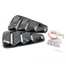 2X ABS Side Window Louvers Scoop Cover Vent Gloss Black For 05-09 Ford Mustang