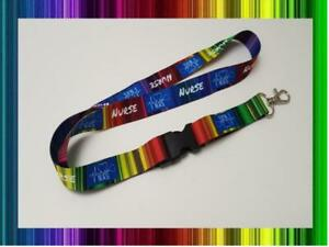 Nurse K W Heroes Lanyard Rainbow Neck Strap for Keys ID Card Holder 20mm 52cm
