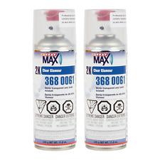 2 Cans SprayMax 3680061 2K Glamour High Gloss Clear Coat 11.8 oz Aerosol Spray