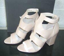 Whistles Dana Block Heel Gladiator Nude Leather Shoes Size 5 / 38