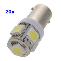 20X T11 BA9S T4W H6W 363 Blanc 5 LED 5050 SMD Voiture Cale Lateral Lampe 12V WY7
