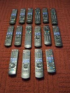 Mixed Lot Of 16 Panasonic Remote Controls Theater, TV, DVD, BD, BLU RAY