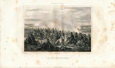 Napoleon's Lancers at Battle of Waterloo Horses 1850 antique print