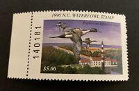 WTDstamps - 1996 NORTH CAROLINA - State Duck Stamp - Mint OG NH