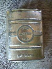 Justrite Coal Mining Carbide Tobacco size pocket tin lamps