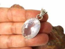 Cuarzo Rosa Colgante de piedras preciosas de plata esterlina 925-en Caja De Regalo