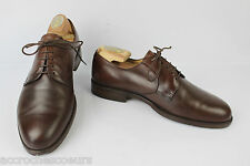 Derby shoes BALLY France All Brown Leather Goodyear UK 8 / FR 42 Large BE
