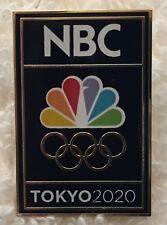 2020 Tokyo Olympic NBC TV Media Pin Classic Logo