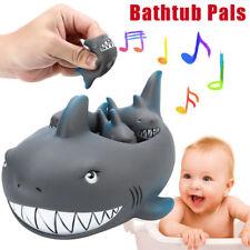 Shrilling Rubber Cute Shark Family Bathtub Pals Floating Bath Tub Toy For Baby