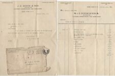 1918 Glen Cove NY Itemized Funeral Invoice & Letter - Casket Hearse Gloves &c