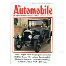 The Automobile Magazine March 1990 mbox169 Vol.8 No.1 Brescia Bugatti - 1937 Sin
