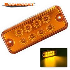 Amber Yellow 8 LED Light Lamp Waterproof Car Truck Trailer Side Marker DC 24V