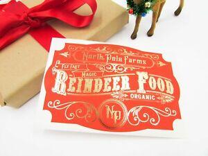 Reindeer Food Labels Gold Foiled - Diy Reindeer Food