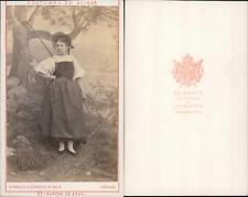AD.Braun, canton de Zoug, costumes suisses Vintage CDV albumen carte de visite