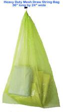 "Mesh Drawstring Bag 36""x24 Gear Catch Cruise Vacation laundry Scuba Snorkel Net"