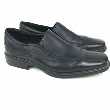 Ecco Mens Slip On Black Leather Loafers Size 43 US 9 - 9.5