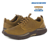 Skechers Mens Expended Carralo Leather Relaxed Fit Trainers Memory Foam Shoes