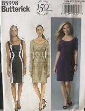 Butterick pattern B5998 Womens fitted, seam detail Dress sz 18W,20W,22W,24Wuncut