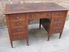 More details for antique twin pedestal writing desk
