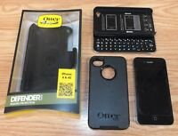 Apple iPhone 4 (MC608LL/A) 16GB Black (AT&T) GSM Smartphone Keyboard Case Bundle