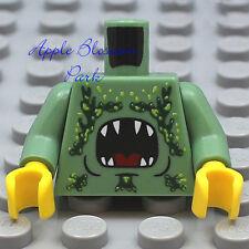 NEW Lego Male Boy MINIFIG TORSO -Sand Green w/Monster Animal Shark Teeth Pattern