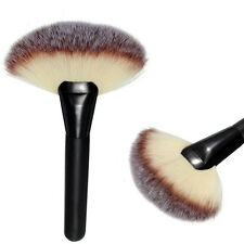 Pro Makeup Large Fan Hair Blush Brush Face Powder Soft Foundation Cosmetic Brush