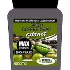 Green Coffee Bean Extract MAX Strength 6000mg 30 Capsules Bottle Diet Pills gb