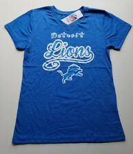 Detroit Lions Girls Large (10/12) V-Neck Tee Shirt | NFL Fan Apparel | NWT