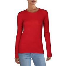 ATM Womens Cashmere Ribbed Trim Shirt Crewneck Sweater Top BHFO 5464