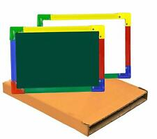 Sndia 2 in 1 Double Sided Whiteboard and Black Slate for Kids 35 x 25cm (Green)