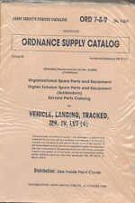 Veicolo cingolato Sbarco LVT MK4 (4) CORAZZATA amphbian, elenco delle parti, LIBRO 1944 WW2
