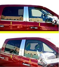 For 2009-2018 RAM 1500 CREW / MEGA 4 FULL DOOR STAINLESS WINDOW MOLDING SILLS