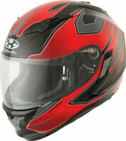 Kabuto Kamui Street Full Face Motorcycle Helmet Black / Red Stinger DOT SMALL