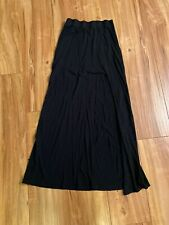 American Eagle Outfitters Maxi Long Skirt Slit Black  size XS