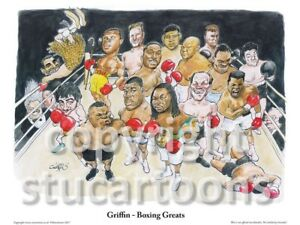 Griffin - Boxing Greats - Cartoon Print
