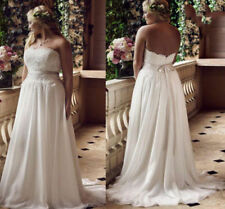 Chiffon A-line Strapless Wedding Dresses