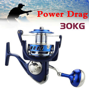 30KG Power Drag All Metal Spinning Reels Sea Boat Fishing Jigging Fishing Reel