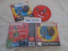 KIRIKOU PS1 (COMPLET) Sony Playstation black label RARE