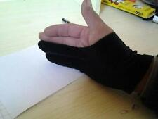 Unique 2 Finger Black Velvet Gloves Drawing Oil Painting Antifouling Gloves - SS