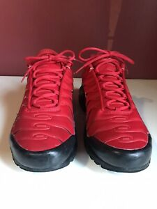 Nike Air Max Plus TN University Red Black Red Running Shoes Size 13 (852630-603)