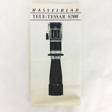 Vintage Original 1960s HASSELBLAD Tele-Tessar 8/500 Lens Informational Brochure