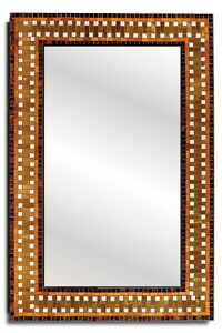 "Handcrafted Mosaic Decorative Rectangular Wall Mirror 24"" x 36"""