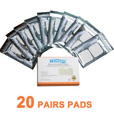 20 Pairs TENS Electrode Pads Size 5*5cm With Plug Hole 2.0mm