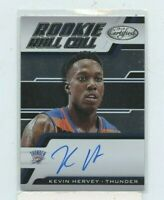KEVIN HERVEY 2018-19 PANINI CERTIFIED ROOKIE ROLL CALL AUTOGRAPH AUTO RRC-KH