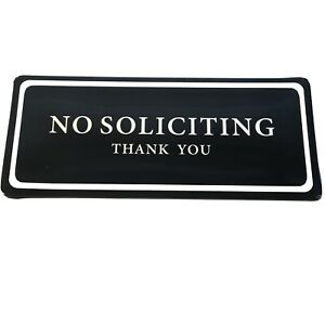 """No Soliciting Sign """"NO SOLICITING THANK YOU"""" No Soliciting Door Sign 3x7 inches"""