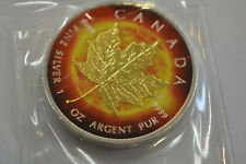 2014 .9999 Canadian Maple Leaf The Sun Colourised Silver 1oz Coin VERY RARE COIN